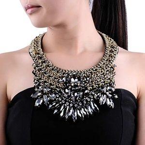 Crystal Rhinestone Statement Necklace